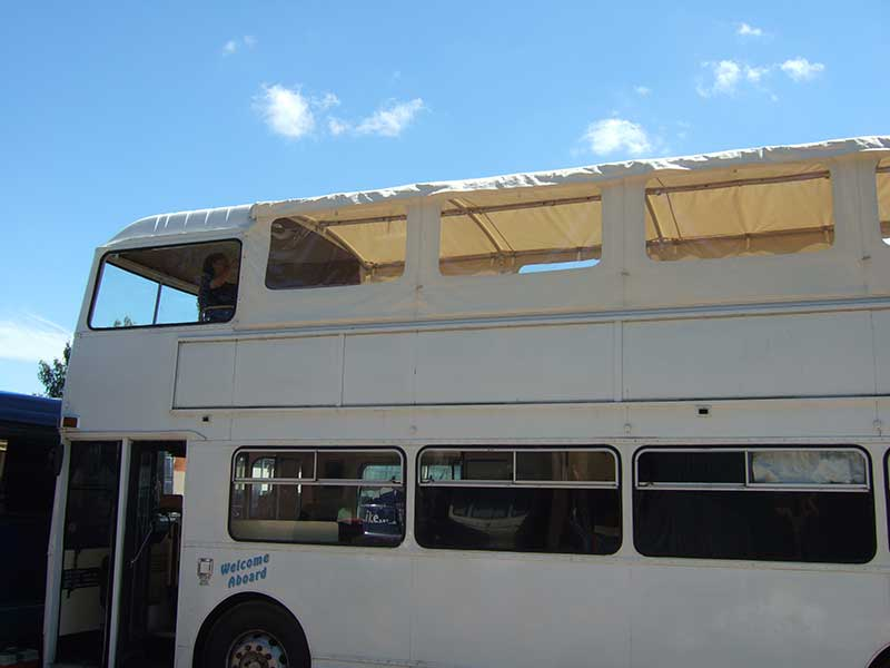 Custom bus roof